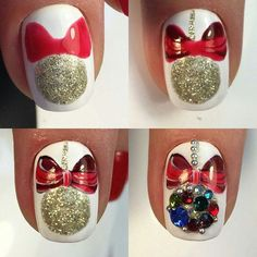 How to choose your fake nails? - My Nails Nail Art Noel, Xmas Nail Art, Xmas Nails, New Year's Nails, Christmas Nail Art Designs, Winter Nail Art, Holiday Nails, Cool Nail Art, Love Nails