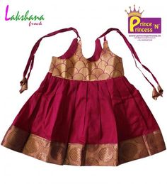 Shop online for your kids, princenprincessis an best choice of pattu pavadai for baby, kids party wear, children western wear and best traditional wear for babies in coimbatore Kids Dress Wear, Dresses Kids Girl, Little Girl Outfits, Kids Outfits, Frock Design, Baby Dress Design, Frock Patterns, Baby Girl Dress Patterns, Kids Ethnic Wear