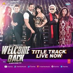 """""""Lock And Load To Welcome them Back""""  *WELCOME BACK- TITLE TRACK* --> http://bit.ly/WelcomeBAckFB  They are funny, they are witty and they would surely leave you asking for more!! Plat it on R-E-PEAT Mode.  #TseriesMusic #WelcomeBack #TitleTrack #JohnAbraham #ShrutiHaasan #NanaPAtekar #AnilKApoor"""