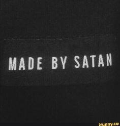 Made by Satan. Demon Aesthetic, Bad Girl Aesthetic, Red Aesthetic, Aesthetic Grunge, Quote Aesthetic, Aesthetic Pictures, Aesthetic Outfit, Aesthetic Collage, Aesthetic Fashion