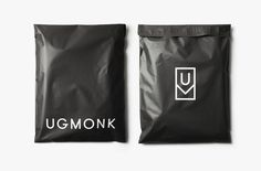 Statement-making matte black custom mailers from Ugmonk.