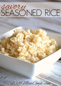 Looking for side dishes to add to your dinner recipes? This savory seasoned rice recipe pairs perfectly with meats and/or veggies. Try it for dinner tonight!