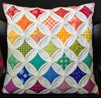 Faux catherdral window tutorial by Diary of a Quilt Maven