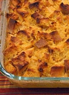 Pumpkin Bread Pudding! | pumpkin recipes, desserts, sweets