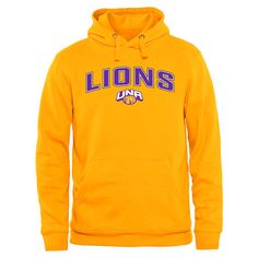 North Alabama Lions Proud Mascot Pullover Hoodie - Gold - $64.99