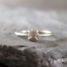 Raw Uncut Rough Diamond Ring - One of my absolute favorite rings ever!