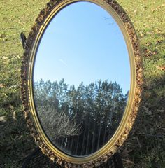 Large shabby decor mirrorgold mirror mirror by KarensChicNShabby