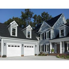 Shop ReliaBilt 9-ft x 7-ft Traditional Insulated White Garage Door with Windows at Lowes.com