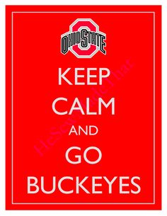 Keep Calm and Go Buckeyes - Ohio State - 8x10 Picture - Wall Hanging - NCAA College Dorm Red.via Etsy.