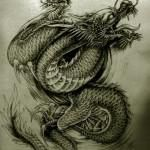 Oriental Dragon Tattoo Style (3)