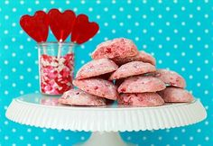 Hard Candy Cookies -- Oooh! I want to try this recipe out with Red Hots (hard cinnamon candies).