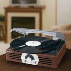 New Vintage Vinyl Turntable Record Player 3Speed 33/45/78 Rpm Speakers Portable #Jensen