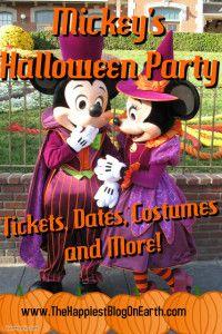 Details on Mickey's Halloween Party at Disneyland Park, tickets, Halloween costume ideas & Disneyland planning advice from the Disneyland experts.