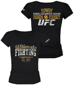 Not found on rondarouseyapparel.com but you can go to http://www.ufcstore.com and make sure to have your own Ronda Rousey debut in the UFC walkout tshirt in time for the new TUF season coming up!