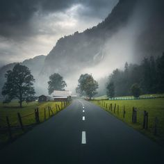 Country road (Lauterbrunnen, Switzerland) by Cuma Çevik (@cumacevikphoto) on Instagram