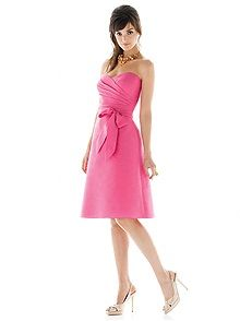 Alfred Sung Style D437    #pink #bridesmaid #dress