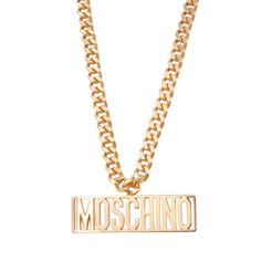 moschino plate necklace #accessories #feminie #jewelry #moschino #lace #covetme