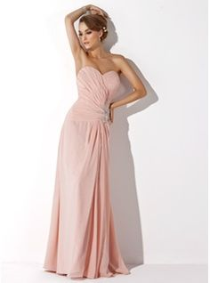 Mother of the Bride Dresses - $146.99 - A-Line/Princess Sweetheart Floor-Length Chiffon Mother of the Bride Dress With Ruffle Lace Beading Split Front  http://www.dressfirst.com/A-Line-Princess-Sweetheart-Floor-Length-Chiffon-Mother-Of-The-Bride-Dress-With-Ruffle-Lace-Beading-Split-Front-008006007-g6007