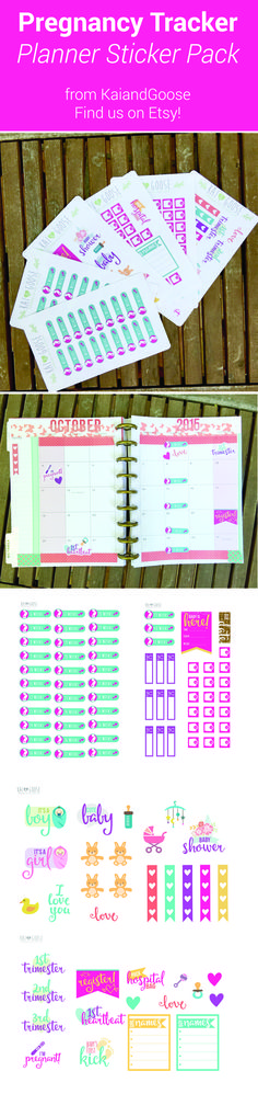check out our new pregnancy tracker stickers in our shop keep track of your