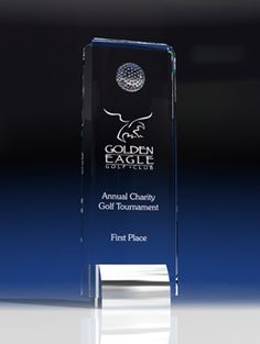 Golf Skyline - Sports Awards by Eclipse Awards A modern and sophisticated award, the golf skyline features a crystal golf ball attached to brilliant quality crystal supported with a chrome base. Trophy Plaques, Golf Trophies, Crystal Awards, Custom Awards, Sports Awards, Fundraising Events, Golf Ball, Corporate Gifts, Statues