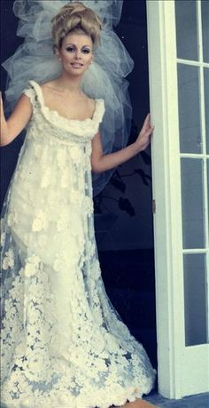 Wedding dress with empire waist and wool lace. I could see myself wearing something like this.