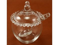 Imperial Glass Candlewick Ladle 3 pc Jam Marmalade Set Vintage.