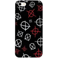 Creepypasta Operator Symbol iPhone Case ($150) ❤ liked on Polyvore featuring accessories, tech accessories, iphone cover case and iphone sleeve case