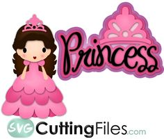 Princess for a cute little girl scrapbook page