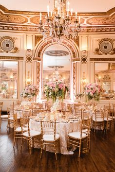 You Simply Cannot Get Anymore Glam Than This Gold Ballroom Wedding!