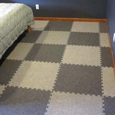 New Carpet Tiles with Padding for Basement