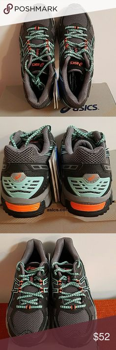 NEW ASICS Grey Gel Kahana T4G5N Sneakers Size 8 ASICS Gel - Kahana Size 8 Grey, Green& Coral Running Sneakers. Style #T4G5N. NEW w/Box Included. We want you to be happy so questions are always welcomed. We have lots of New& Pre-Owned Name Brand Items in our closet so please check out our bundle option or make an offer. Sorry, but no trades. Thank You! Asics Shoes Sneakers