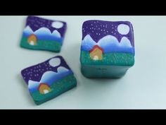 ▶ How to make a mountain landscape #Polymer #Clay #Canes