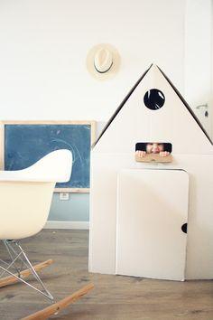 play house with tiny porthole window