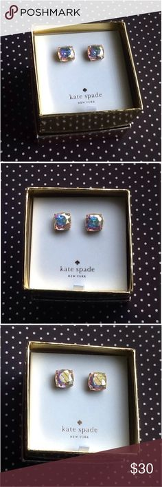 "Kate Spade Aurora Borealis Studs New with tag, in box, Kate Spade ""aurora borealis"" stud earrings. 14k gold fill, these are the larger size gumdrop studs. kate spade Jewelry Earrings"
