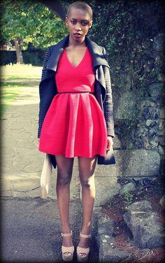 red dress! Marisa Martins 22 Londonwww.themessywardrobe.tumblr.com  #Blackfashion onFacebookTwitter@blackFashionbyj