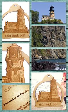 Split Rock, MN Lighthouse ornament. Celebrate your cherished memories! Split Rock Lighthouse. Lake Superior - Two Harbors, MN