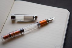 I don't know why but I'm seriously digging the orange TWSBI 580AL. Might have to grab one for myself....