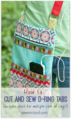 How to sew ring tabs for straps – and a cutting guide! - Sew McCool