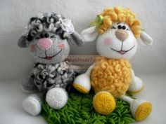 Овечка спицами Crochet Food, Knit Or Crochet, Free Crochet, Easy Crochet, Doll Toys, Pet Toys, Amigurumi Patterns, Crochet Patterns, Funny Sheep
