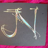 Fresh new way to look at caligraphy. Inspiring and fresh with a touch of whimsy. Love it!