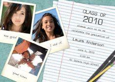 College Graduation Announcements, Polaroid Film