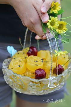 厨苑食谱: 百香果燕菜/海底椰糖水燕菜 (Passion Fruit Jelly & Sea Coconut J...