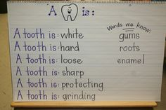 Tooth Week Lessons and activities