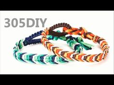 [305DIY]피쉬본 매듭팔찌만들기 fishbone knot friendship bracelets DIY tutorial - YouTube