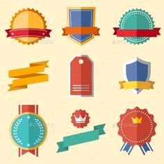 Vintage, Retro Flat Badges, Labels #jpg #image #flat #frame • Available here → https://graphicriver.net/item/vintage-retro-flat-badges-labels/10723072?ref=pxcr