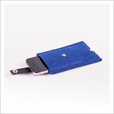 Felt iPhone Cases Royal Blue