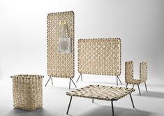 Chestnut wood woven that evokes baskets