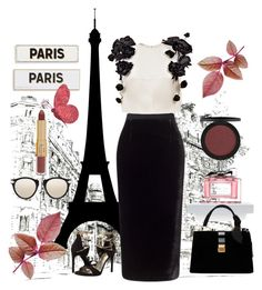 """Paris,Paris #152"" by taniouche16 on Polyvore featuring Roland Mouret, Esme Vie, Rosanna, Miu Miu, Stuart Weitzman, Karen Walker and tarte"