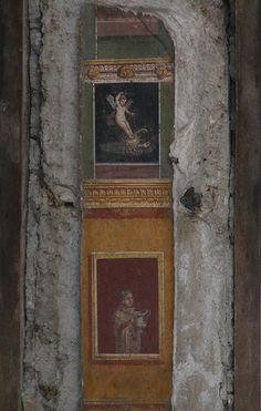 Frescoes in the atrium, House of the Vettii, Pompeii, photo: Irene Norman, (CC BY-NC Ancient Ruins, Ancient Artifacts, Ancient Rome, Ancient History, Art History, Pompeii Ruins, Pompeii Italy, Pompeii And Herculaneum, Fresco