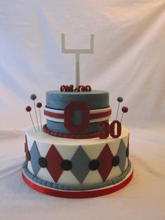 Image detail for -Ohio State Buckeyes Birthday Cake by SugarKissesCakery on Cake Central
